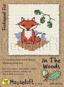 Mouseloft Ferdinand Fox In The Woods cross stitch kit